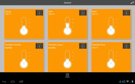 radiateur connecte - application mobile aterno