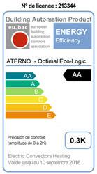 Etiquette certification eu.bac pour Aterno