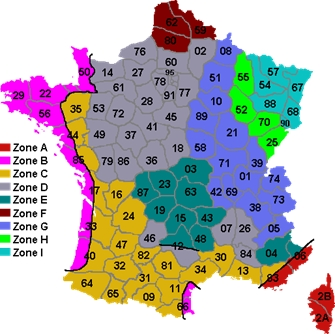 carte temperatures france