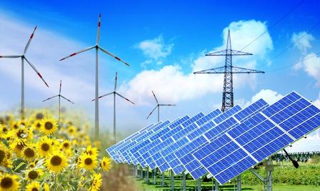 Electricité solaire et éolienne