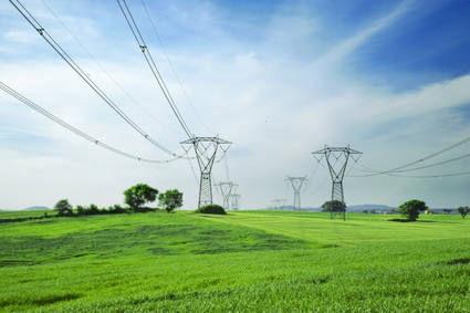 Lignes électriques.