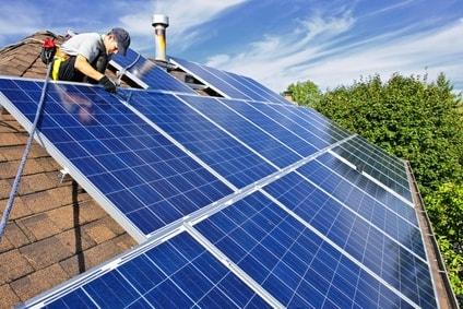 chauffage solaire - panneaux solaires