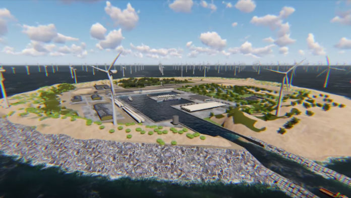 île artificielle imaginée par Energinet et TenneT