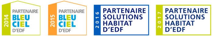 Logos Partenaire EDF : 2014 / 2015 / 2016 / 2017