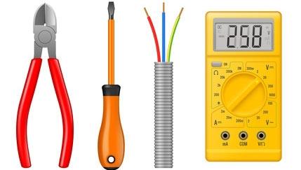 Multimètre et outils pour travaux élecrtiques