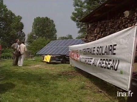 premiere centrale solaire - lhuis