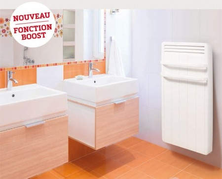 Radiateur seche serviette electrique pour salle de bains for Chauffage salle de bain soufflant