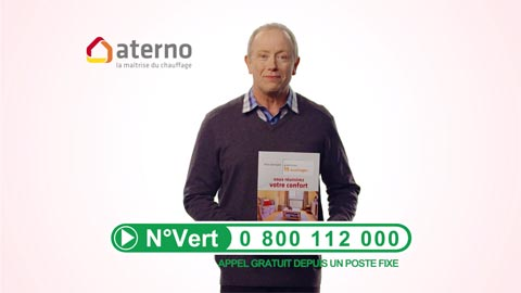 Nouvelle campagne de communication Aterno à la télé.